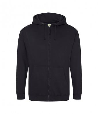 jet black zipped hoodie