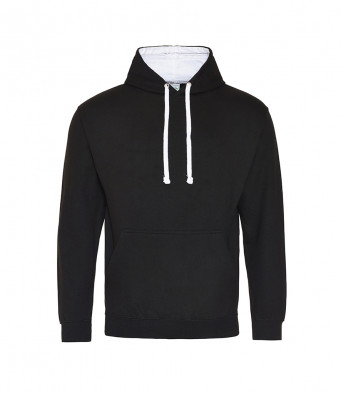 jetblack arcticwhite contrast hoodies