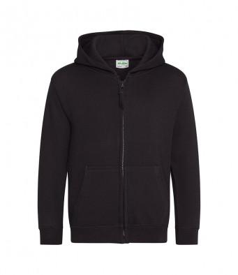 jetblack childrens zipped hoodie
