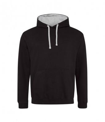 jetblack heathergrey contrast hoodies