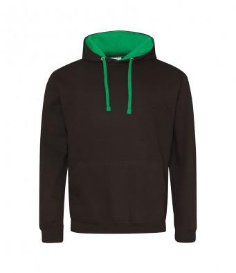 jetblack kellygreen contrast hoodies