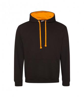 jetblack orangecrush contrast hoodies