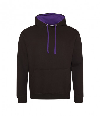 jetblack purple contrast hoodies