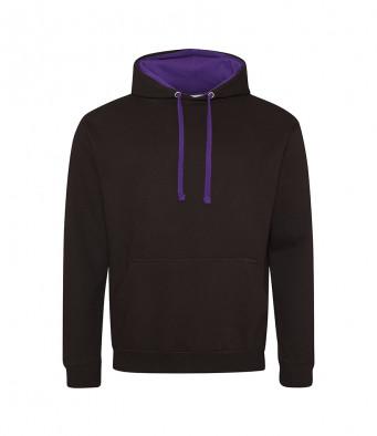 jetblack purple contrast hoodies