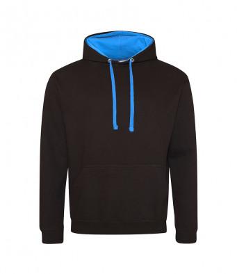 jetblack sapphireblue contrast hoodies