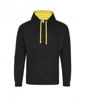 jetblack sunyellow contrast hoodies