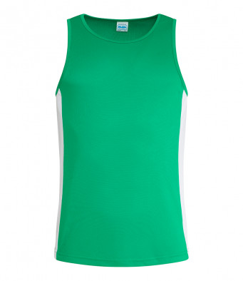 kelly green arc white vest