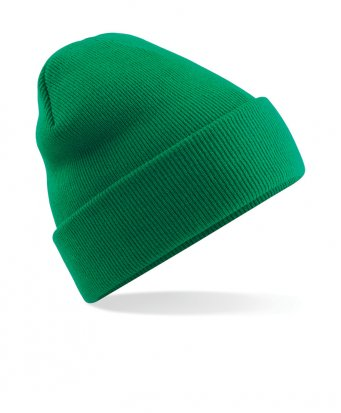 kelly green cuffed beanie