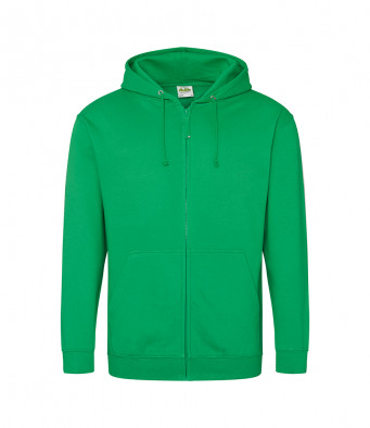 kelly green zipped hoodie