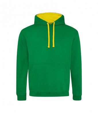 kellygreen sunyellow contrast hoodies