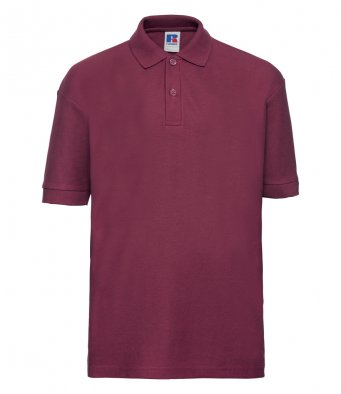 kids burgundy polo