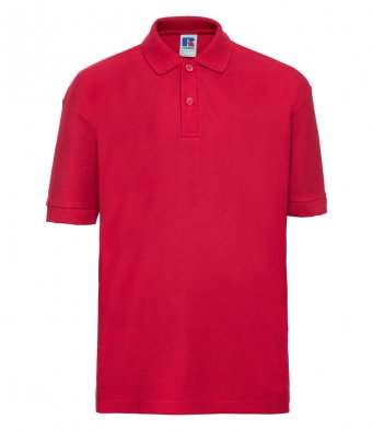 kids classic red polo