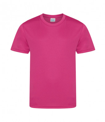 kids cool smooth t shirt hot pink