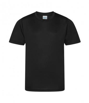kids cool smooth t shirt jet black