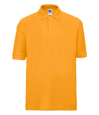 kids gold polo