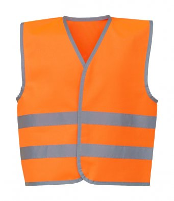 kids orange hi vis vest