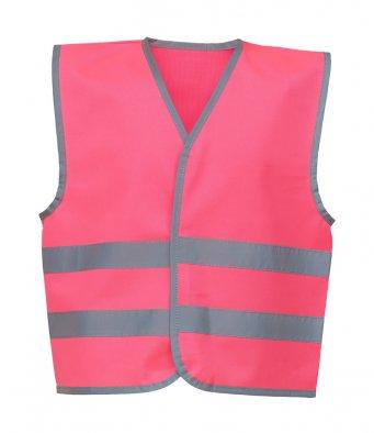 kids pink hi vis vest