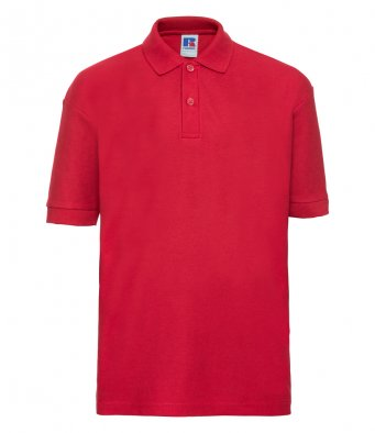 kids red polo