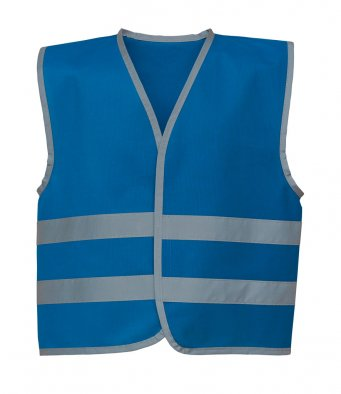 kids royal blue hi vis vest