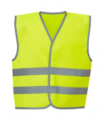 kids yellow hi vis vest