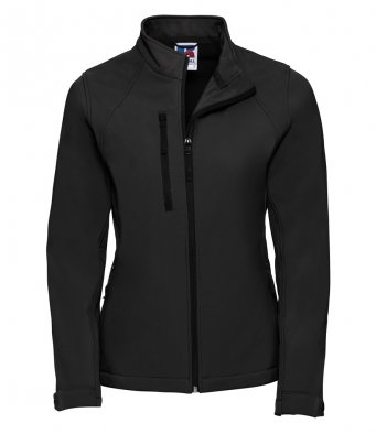 ladies black classic softshell jacket