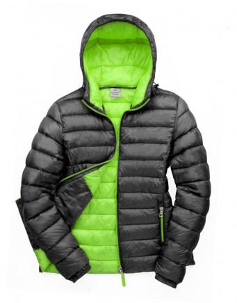 ladies blacklime padded work jacket