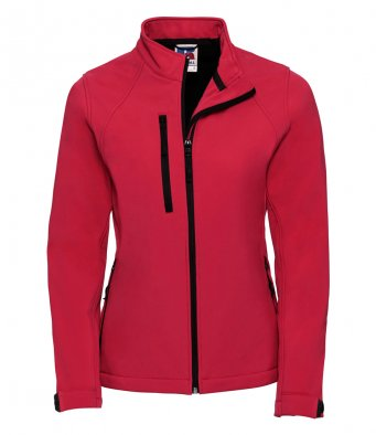 ladies classic red classic softshell jacket