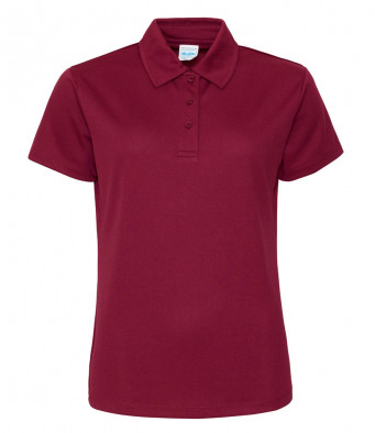 ladies cool burgundy polo shirt