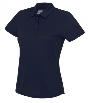 ladies cool french navy polo shirt