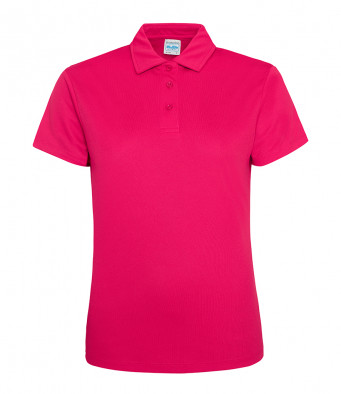 ladies cool hot pink polo