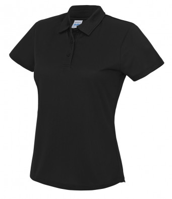 ladies cool jet black polo shirt