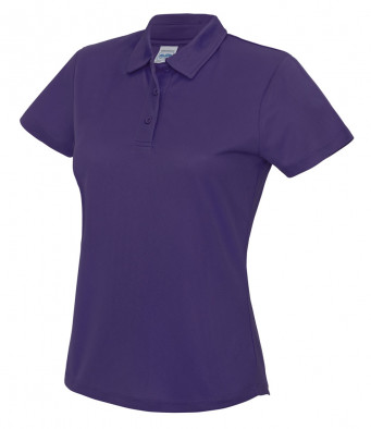 ladies cool purple polo shirt