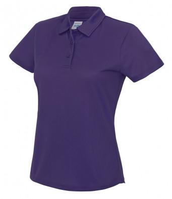 ladies cool purple polo shirt