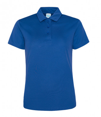 ladies cool royal blue polo shirt