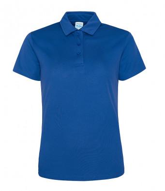 ladies cool royal blue polo shirt