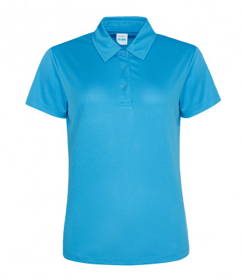 ladies cool sapphire blue polo