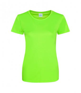 ladies cool smooth t shirt elec green