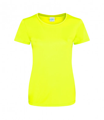 ladies cool smooth t shirt elec yellow