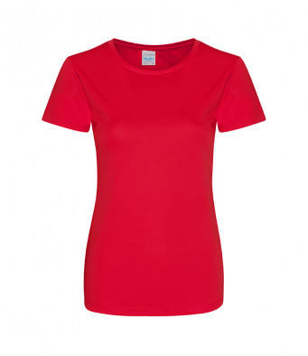ladies cool smooth t shirt fire red