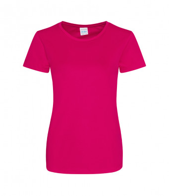 ladies cool smooth t shirt hot pink