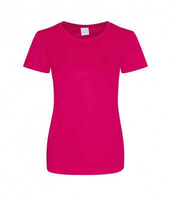 ladies cool smooth t shirt hot pink