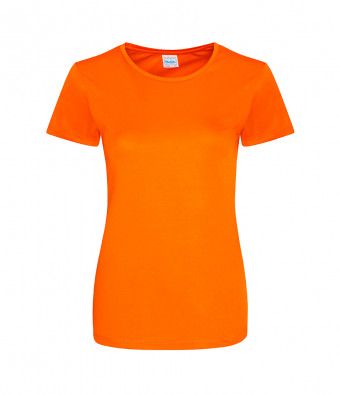 ladies cool smooth t shirt orange crush