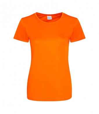 ladies cool smooth t shirt orange crush