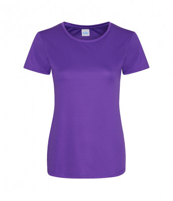 ladies cool smooth t shirt purple