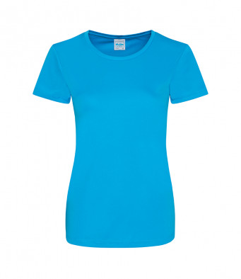 ladies cool smooth t shirt sapphire blue
