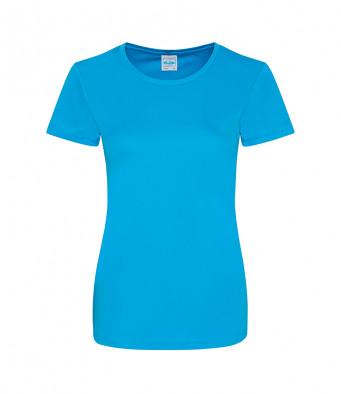 ladies cool smooth t shirt sapphire blue