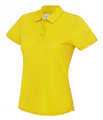 ladies cool sun yellow polo