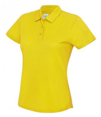 ladies cool sun yellow polo