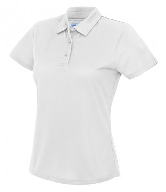 ladies cool white polo shirt
