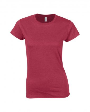 ladies fitted t shirt antique cherry red